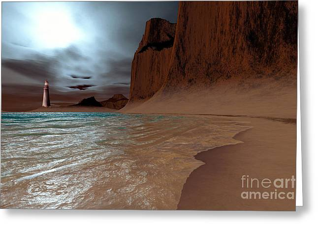 Wave Image Greeting Cards - Pharos Greeting Card by Corey Ford