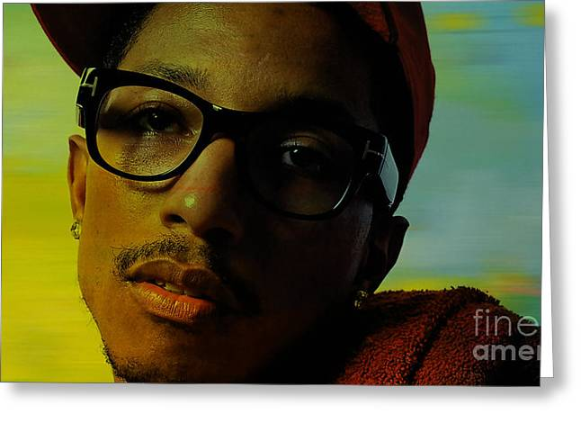 Pharrell Williams Greeting Card by Marvin Blaine