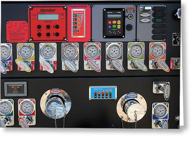 Control Panels Greeting Cards - Phd In Fireman Greeting Card by Skip Willits