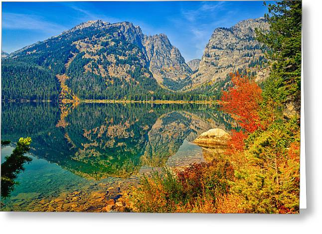 Grand Canyon Greeting Cards - Phelps Lake Greeting Card by Greg Norrell