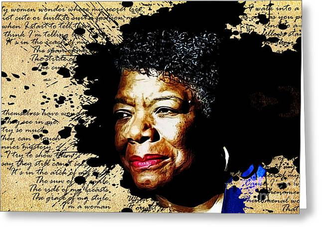 Maya Angelou Greeting Cards - Phenomenal Woman Greeting Card by The DigArtisT