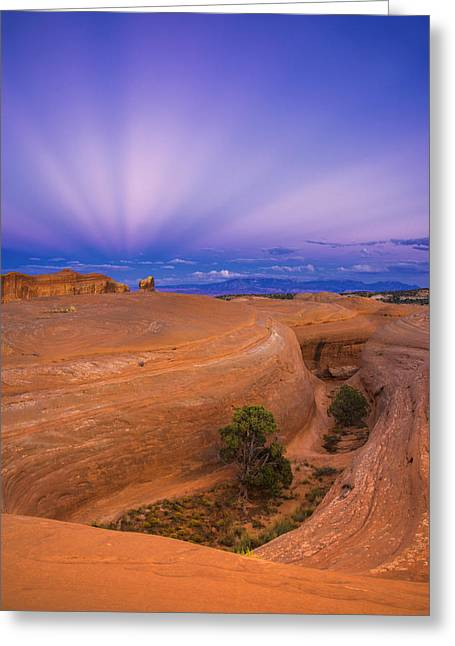 Southern Utah Greeting Cards - Anticrepuscular Rays Greeting Card by Dustin  LeFevre