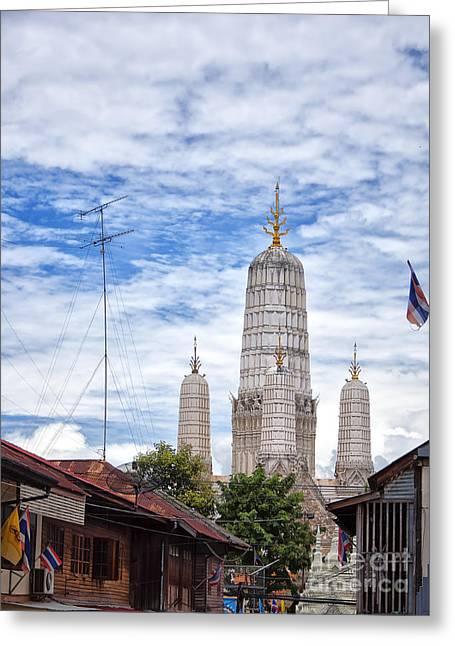 Phetchaburi Greeting Cards - Phetchaburi Temple 02 Greeting Card by Antony McAulay