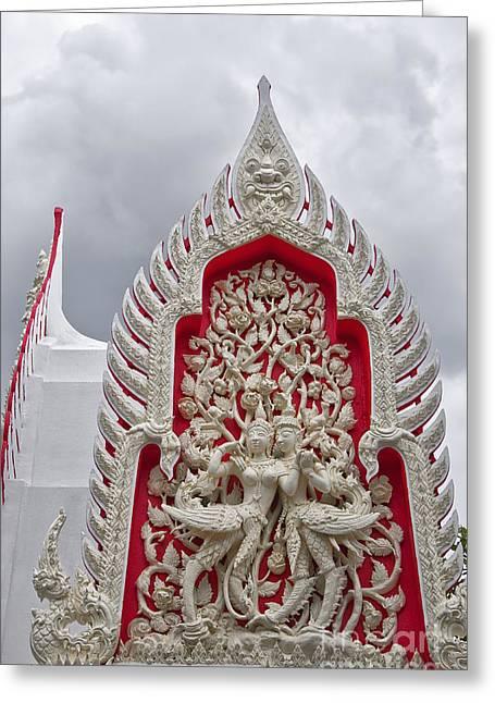 Phetchaburi Greeting Cards - Phetchaburi Temple 03 Greeting Card by Antony McAulay