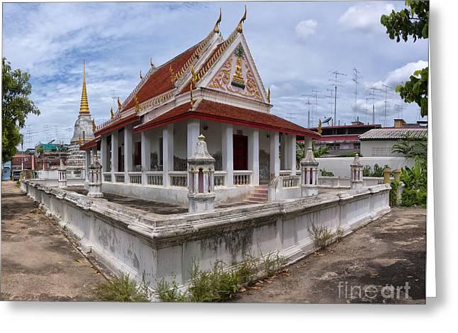 Phetchaburi Greeting Cards - Phetchaburi Temple 05 Greeting Card by Antony McAulay