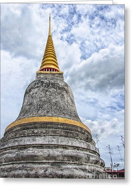Phetchaburi Greeting Cards - Phetchaburi Temple 09 Greeting Card by Antony McAulay
