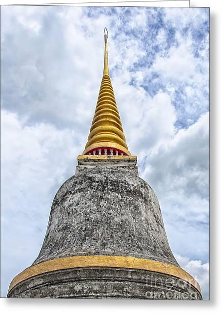 Phetchaburi Greeting Cards - Phetchaburi Temple 10 Greeting Card by Antony McAulay