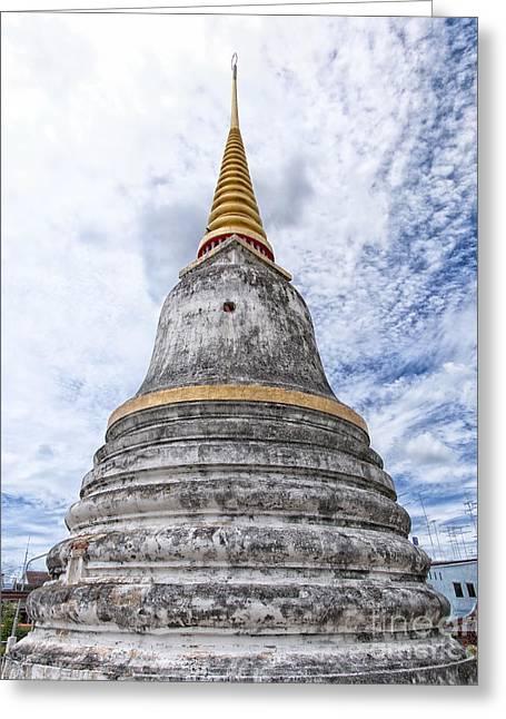 Phetchaburi Greeting Cards - Phetchaburi Temple 14 Greeting Card by Antony McAulay