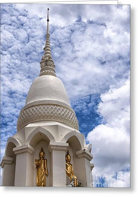 Phetchaburi Greeting Cards - Phetchaburi Temple 16 Greeting Card by Antony McAulay