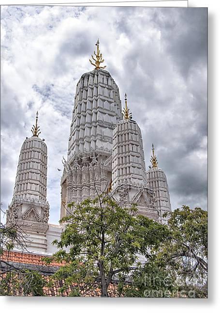 Phetchaburi Greeting Cards - Phetchaburi Temple 17 Greeting Card by Antony McAulay