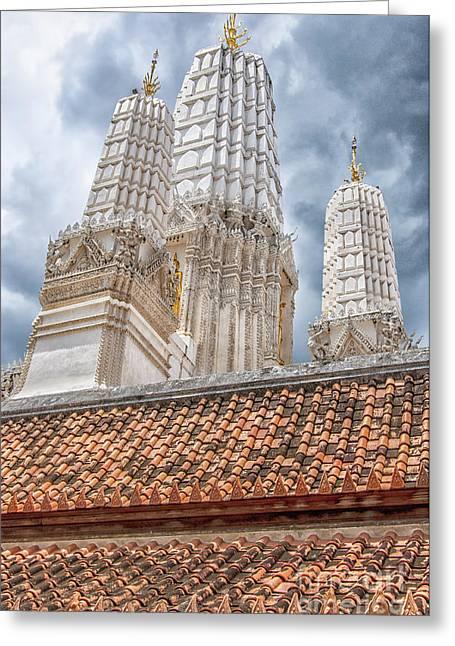 Phetchaburi Greeting Cards - Phetchaburi Temple 18 Greeting Card by Antony McAulay