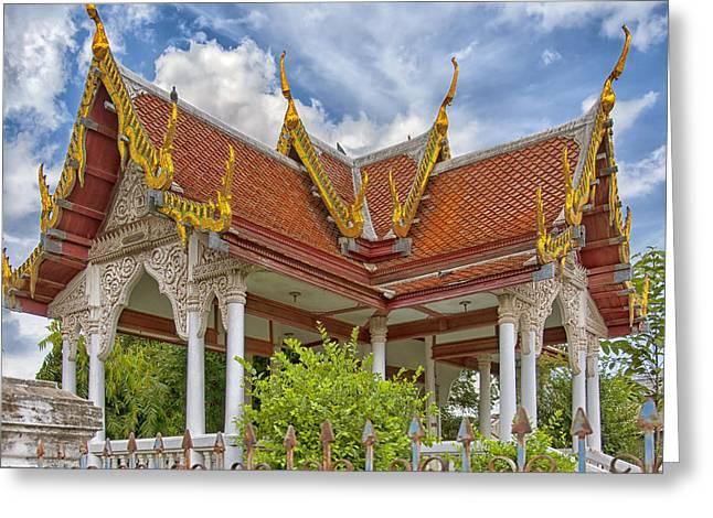 Phetchaburi Greeting Cards - Phetchaburi Temple 22 Greeting Card by Antony McAulay