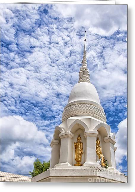 Phetchaburi Greeting Cards - Phetchaburi Temple 24 Greeting Card by Antony McAulay