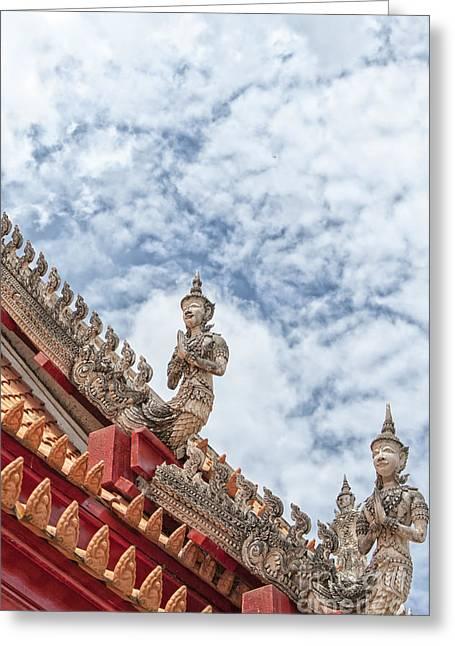 Phetchaburi Greeting Cards - Phetchaburi Temple 27 Greeting Card by Antony McAulay