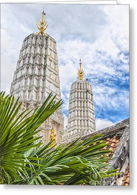 Phetchaburi Greeting Cards - Phetchaburi Temple 33 Greeting Card by Antony McAulay