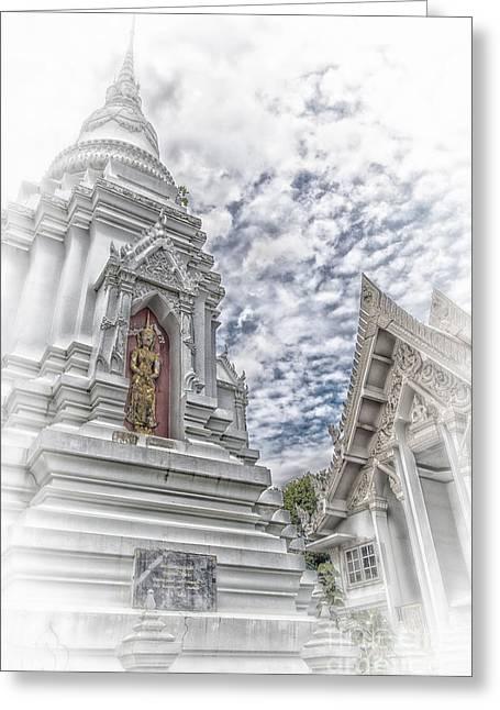 Phetchaburi Greeting Cards - Phetchaburi Temple 36 Greeting Card by Antony McAulay