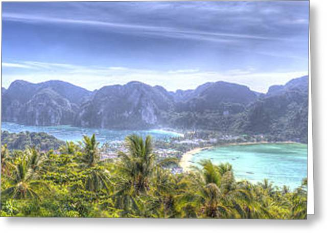 Phi Greeting Cards - Phi Phi Island Greeting Card by Alex Dudley