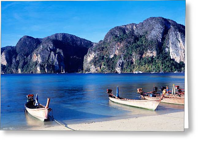 Phi Greeting Cards - Phi Phi Islands Thailand Greeting Card by Panoramic Images