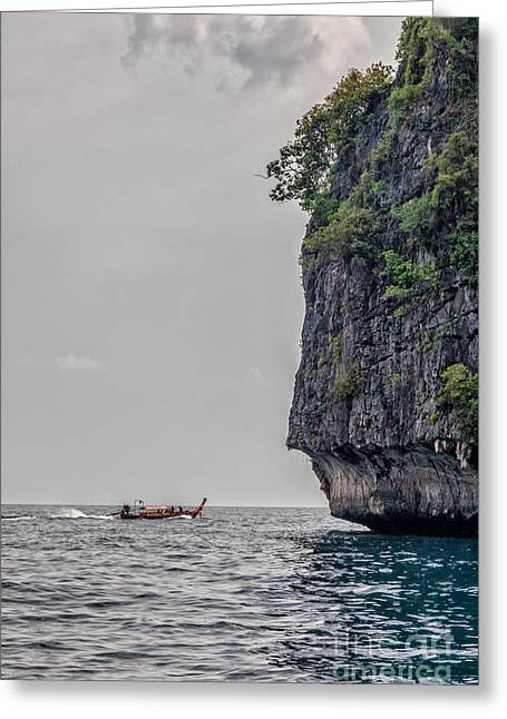 Turquois Greeting Cards - Phi Phi Leh Thailand Northern cliffs. Greeting Card by Frank Bach