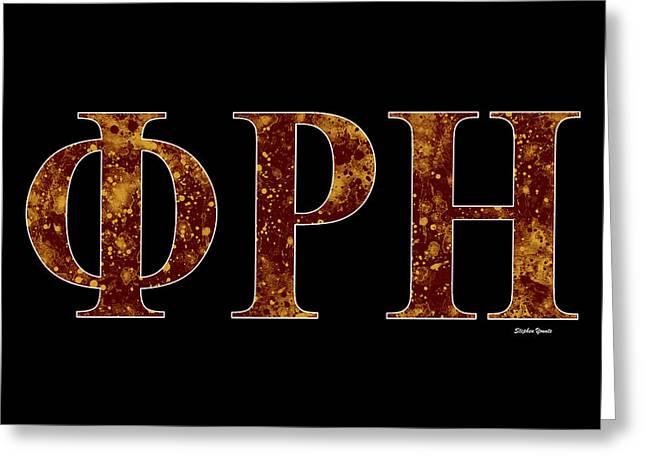 Southern Illinois Greeting Cards - Phi Rho Eta - Black Greeting Card by Stephen Younts