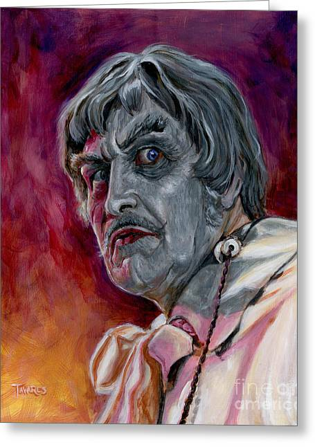 Celeb Greeting Cards - Phibes Greeting Card by Mark Tavares