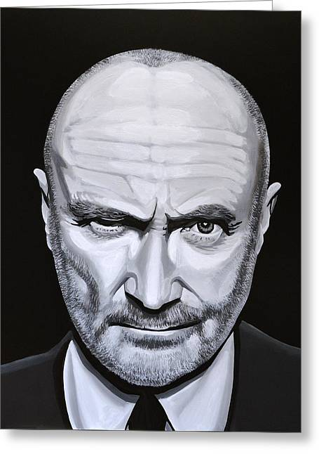 Phil Collins Greeting Card by Paul Meijering