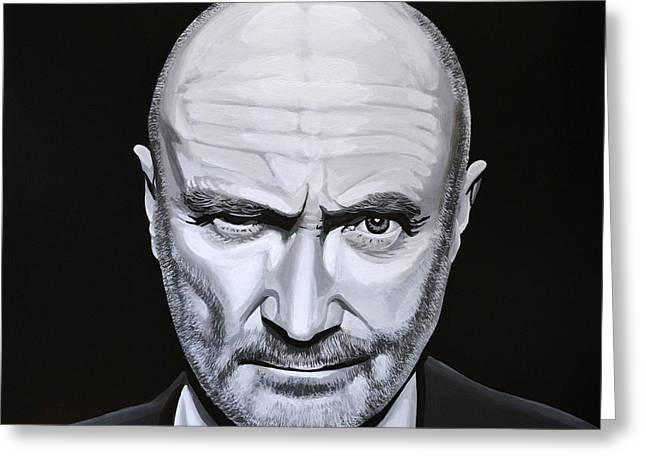 Phil Greeting Cards - Phil Collins Greeting Card by Paul Meijering