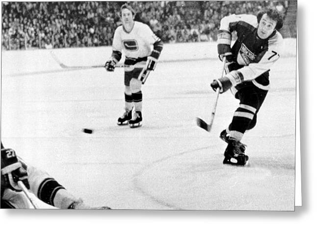 Phils Greeting Cards - Phil Esposito in action Greeting Card by Gianfranco Weiss
