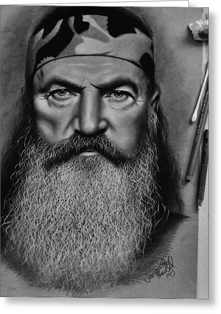 Duck Dynasty Greeting Cards - Phil Robertson.. just completed Greeting Card by Samantha Howell