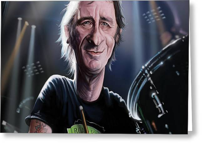 Phil Greeting Cards - Phil Rudd Greeting Card by Andre Koekemoer