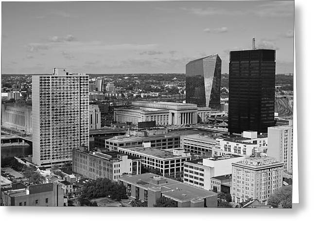 Modern Photographs Greeting Cards - Philadelphia - A View across the Schuylkill River Greeting Card by Rona Black