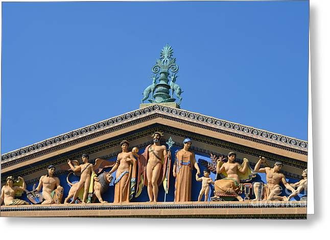 Philadelphia Museum Of Art Greeting Cards - Philadelphia Architectural elements Greeting Card by Adspice Studios