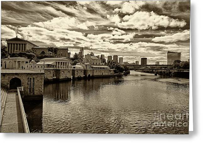 Philadelphia Art Museum Greeting Cards - Philadelphia Art Museum 6 Greeting Card by Jack Paolini