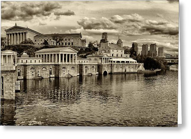 Philadelphia Art Museum Greeting Cards - Philadelphia Art Museum 8 Greeting Card by Jack Paolini
