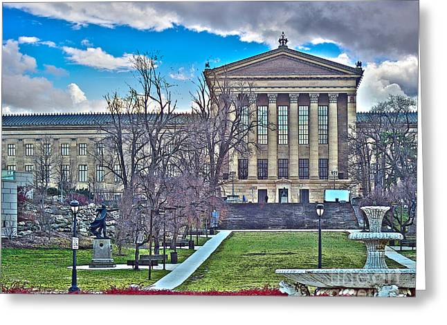 Greek Sculpture Greeting Cards - Philadelphia Art Museum Greeting Card by Tom Gari Gallery-Three-Photography