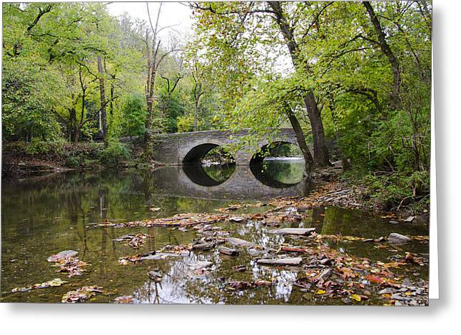 Philadelphia Digital Greeting Cards - Philadelphia - Bells Mill Bridge over the Wissahickon Creek Greeting Card by Bill Cannon
