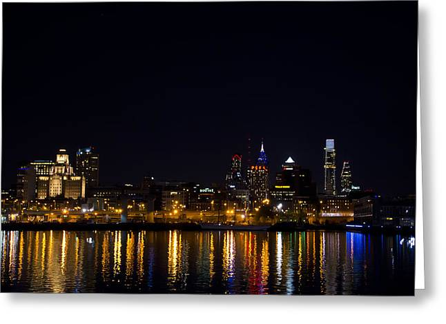 Phila Greeting Cards - Philadelphia - Bright Lights Big City Greeting Card by Bill Cannon