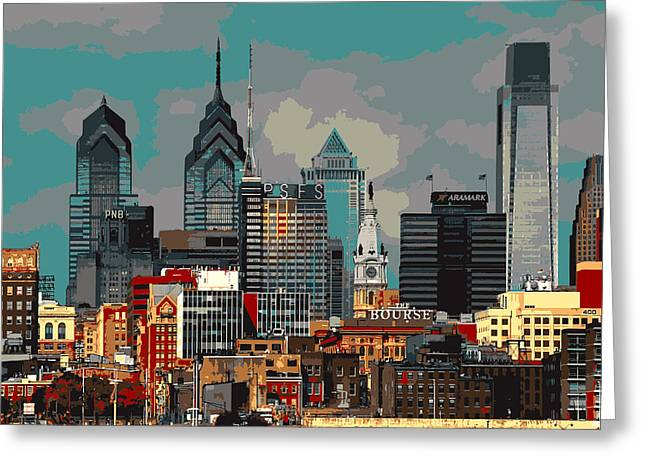 Philadelphia Framed Prints Greeting Cards - Philadelphia Center City Greeting Card by Melinda Dreyer