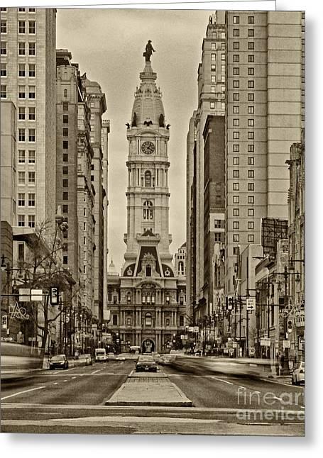 City Hall Greeting Cards - Philadelphia City Hall 2 Greeting Card by Jack Paolini