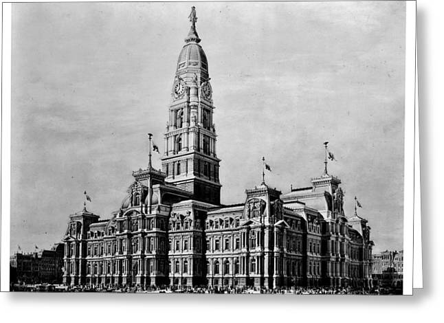 William Penn Greeting Cards - Philadelphia City Hall Greeting Card by Benjamin Yeager