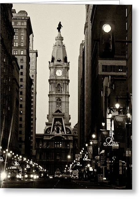 William Photographs Greeting Cards - Philadelphia City Hall Greeting Card by Louis Dallara
