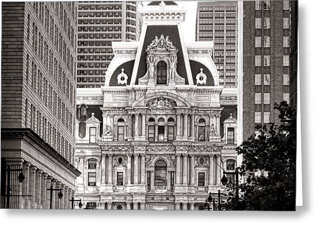 Philadelphia City Hall Greeting Card by Olivier Le Queinec