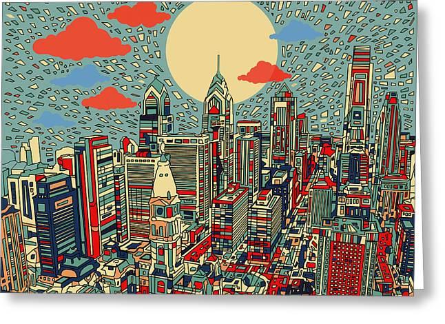 Philadelphia Dream 2 Greeting Card by Bekim Art
