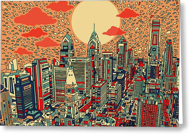 Philadelphia Dream Greeting Card by Bekim Art
