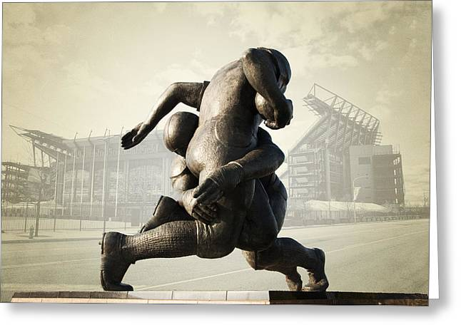 Philadelphia Phillies Stadium Digital Greeting Cards - Philadelphia Eagles Greeting Card by Bill Cannon