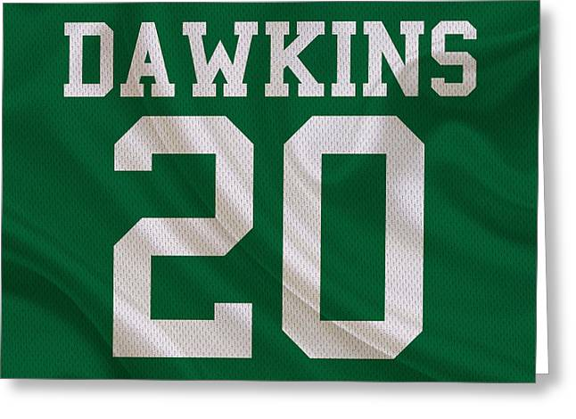 Brian Dawkins Greeting Cards - Philadelphia Eagles Brian Dawkins Greeting Card by Joe Hamilton