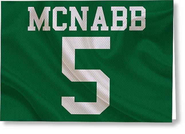 Philadelphia Eagles Greeting Cards - Philadelphia Eagles Donovan Mcnabb Greeting Card by Joe Hamilton