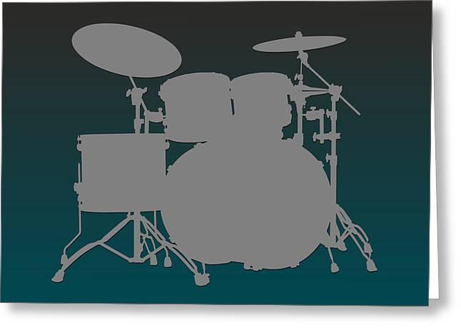 Drum Greeting Cards - Philadelphia Eagles Drum Set Greeting Card by Joe Hamilton