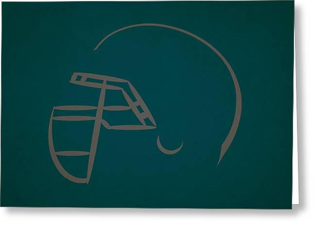 Philadelphia Eagles Greeting Cards - Philadelphia Eagles Helmet Greeting Card by Joe Hamilton