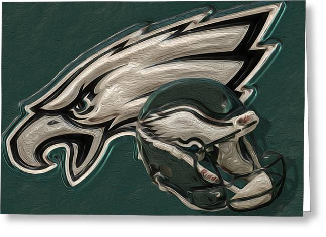 Fall Digital Art Greeting Cards - Philadelphia Eagles Greeting Card by Jack Zulli